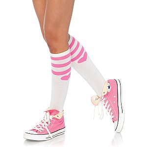 Sweetheart Knee Socks (White)