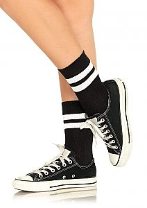 Athletic Striped Anklet